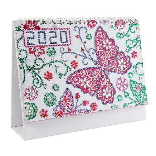 DIY Butterfly Special Shaped Diamond 2020 Table Calendar