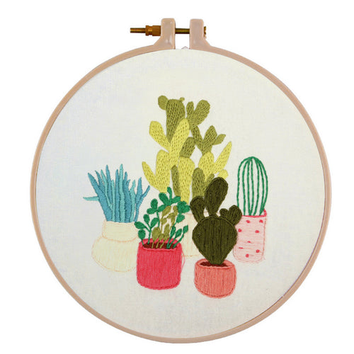For Beginner Cactus Plants - Cross Stitch 30x30cm