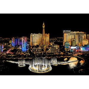 Las Vegas Paintings Kids - Doodle Scraping Painting 40.5x28.5cm
