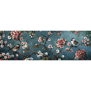 Flower Bird - Full Round Diamond Painting(80*30cm)