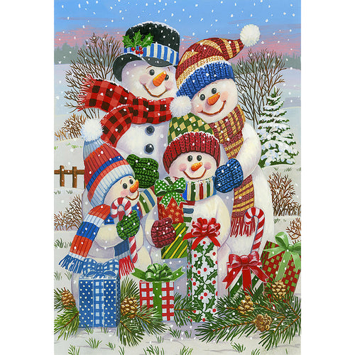 Snowman  - Full Round Diamond - 30x40cm