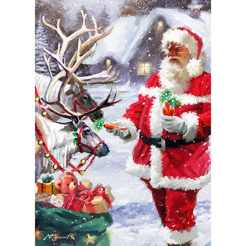 Santa Claus Set  - Full Round Diamond - 30x40cm