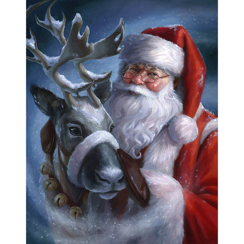 Santa Claus  - Full Round Diamond - 30x40cm
