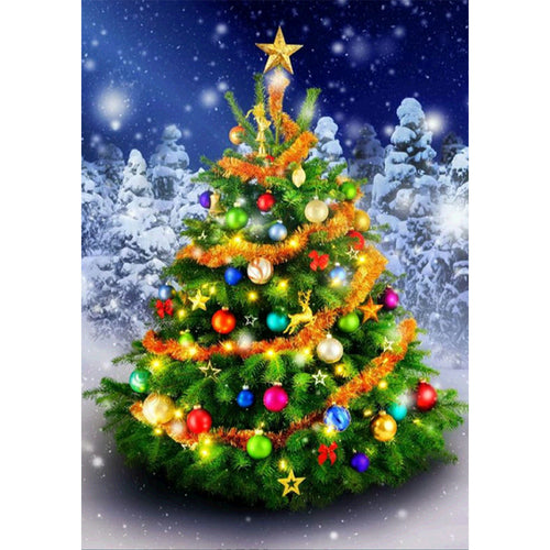 Christmas Tree - Full Square Diamond - 40x50cm