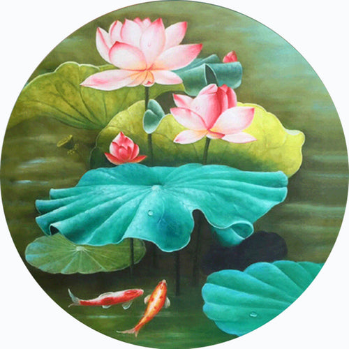 Lotus - Full Round Diamond - 40x40cm