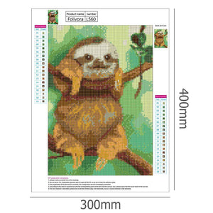 Cute Sloth Full Drill Paintings