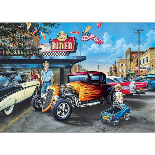 5D DIY Full Drill Diamond Painting Vintage Car Cross Stitch Embroidery Kit