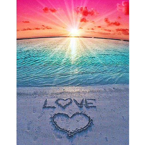 Love Beach - Full Round Diamond - 30x40cm