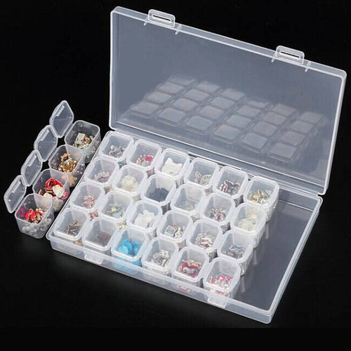 28 Slots Plastic Storage Box Case Diamond Painting Tools
