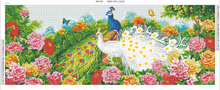 Load image into Gallery viewer, Peacock & Flower  - Full Special Shaped Diamond - 110x45cm
