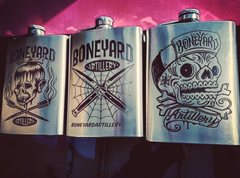 Laser Engraved 8oz Stainless Steel Flask