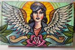 Biker Girl Hand Painted Stash Box