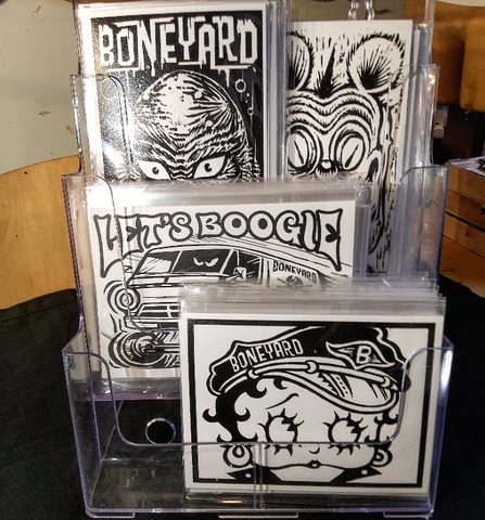 Boneyard Postcards (white paper heavy weight)