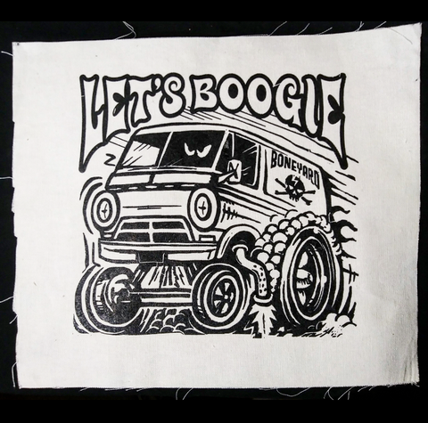 Let's Boogie Burnout Backpatch