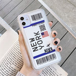 Global First Class Plane Ticket Phone Cases