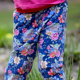 Floral Grogu Grow-With-Me Pants