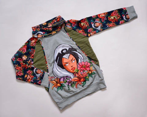 Floral Storm Collared Pullover
