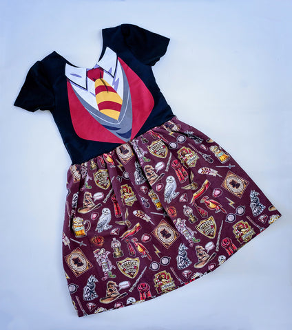 Gryffindor Bow Back Dress