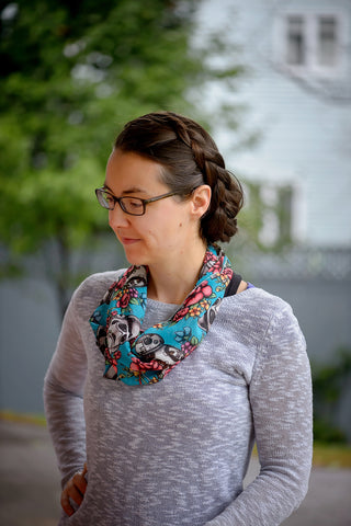 Blue Floral Wars Infinity Scarf