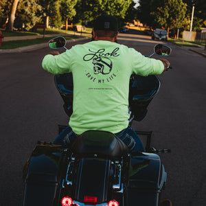 Safety Green Long Sleeve Skull Shirt