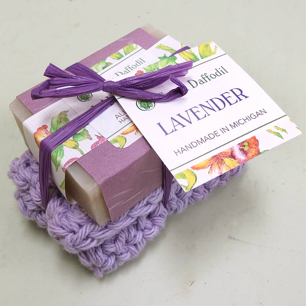 Lavender Soap & Washcloth Set - Gift
