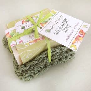 Rosemary Mint Soap & Washcloth Set