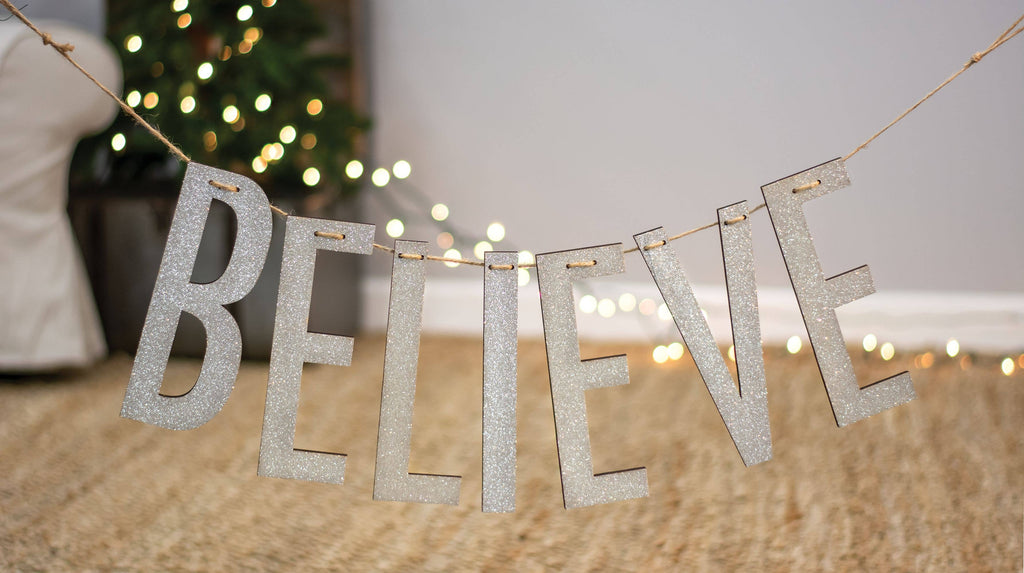 Believe Silver Small Garland