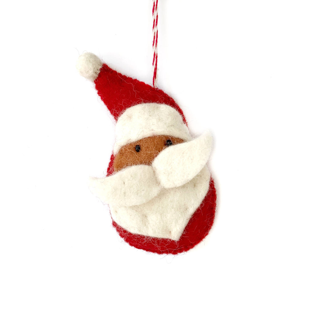 Santa Felt Wool Ornament