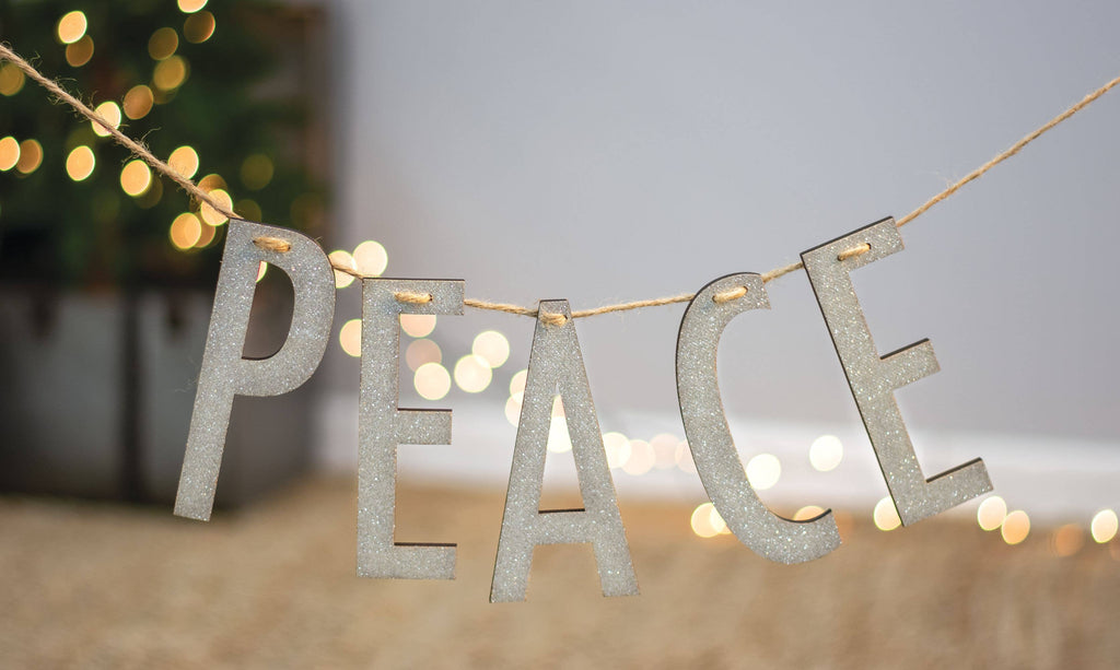 Peace Silver Small Garland