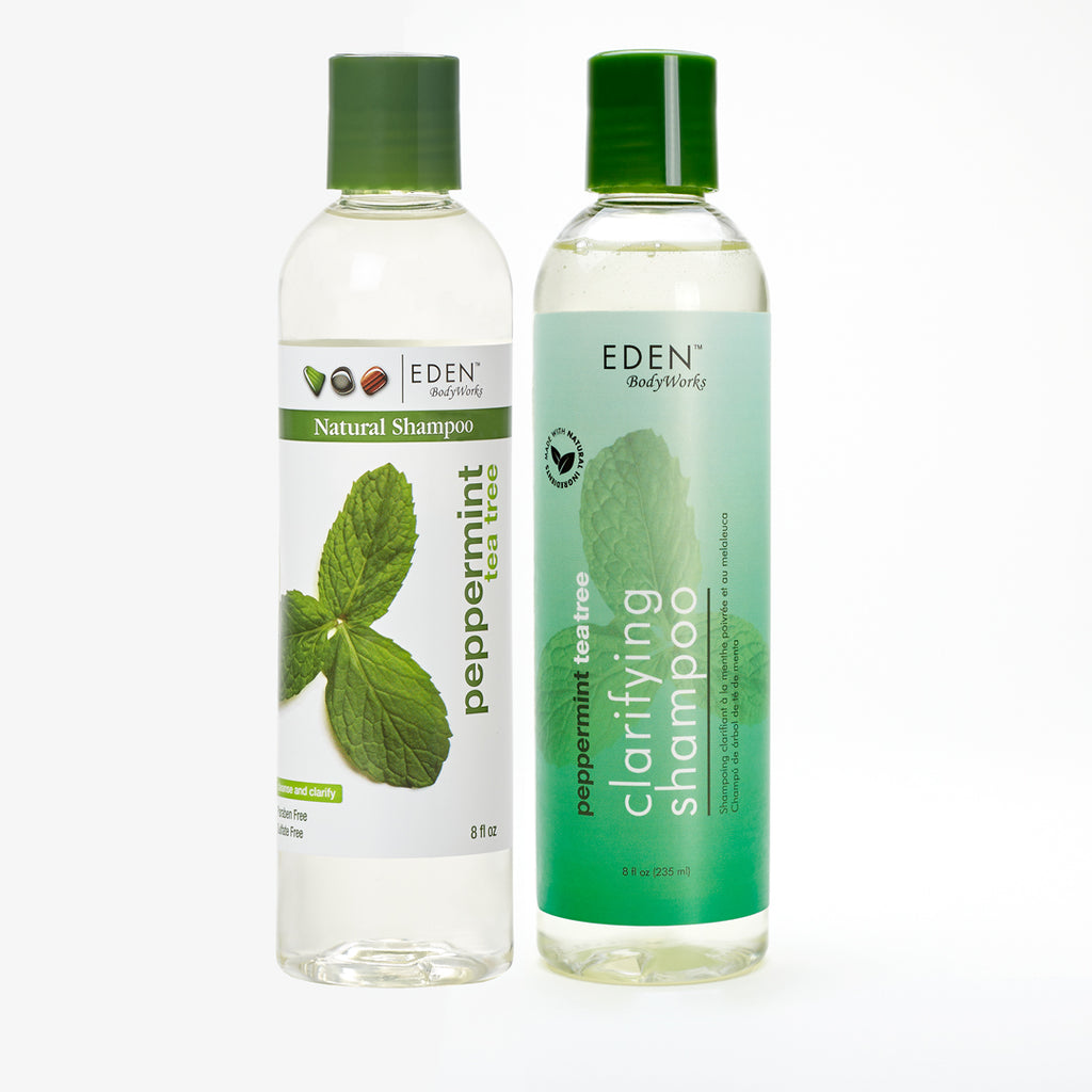 Peppermint Tea Tree Clarifying Shampoo with a new label! - EDEN BodyWorks
