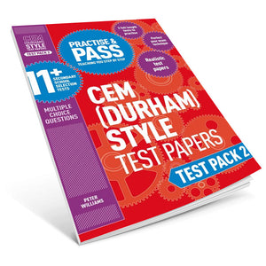 Practise and Pass 11+ CEM (Durham) Style Test Papers: Test Pack 2