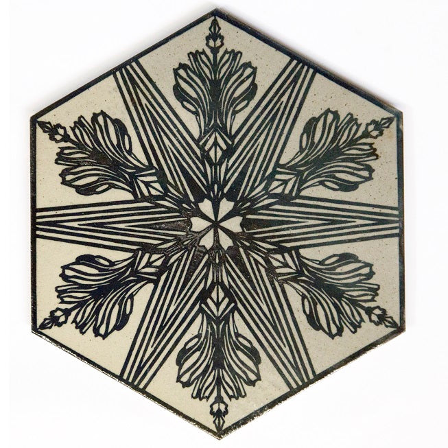 Swoon ceramic tile, hand-made by Braddock Tiles in Braddock, Pennsylvania