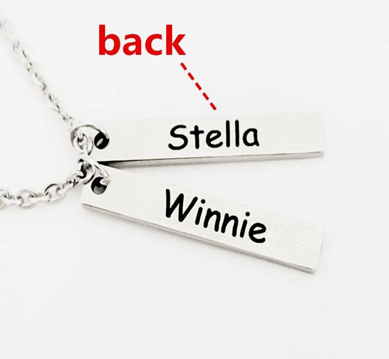 Personalized Bar Pendant Necklace