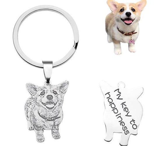 Custom Personalized Photo Keychain