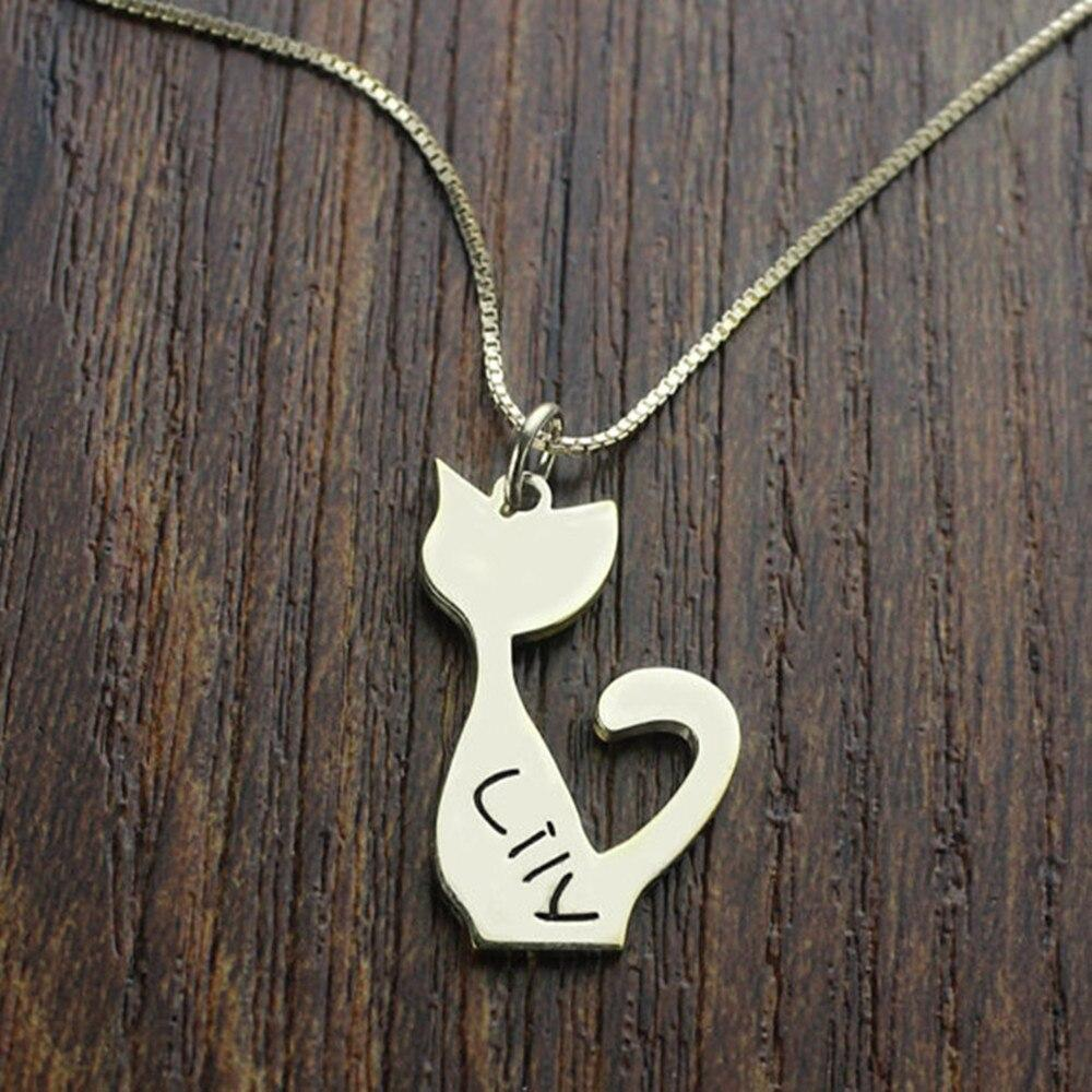 NEW Personalized Cat Pendant Necklace