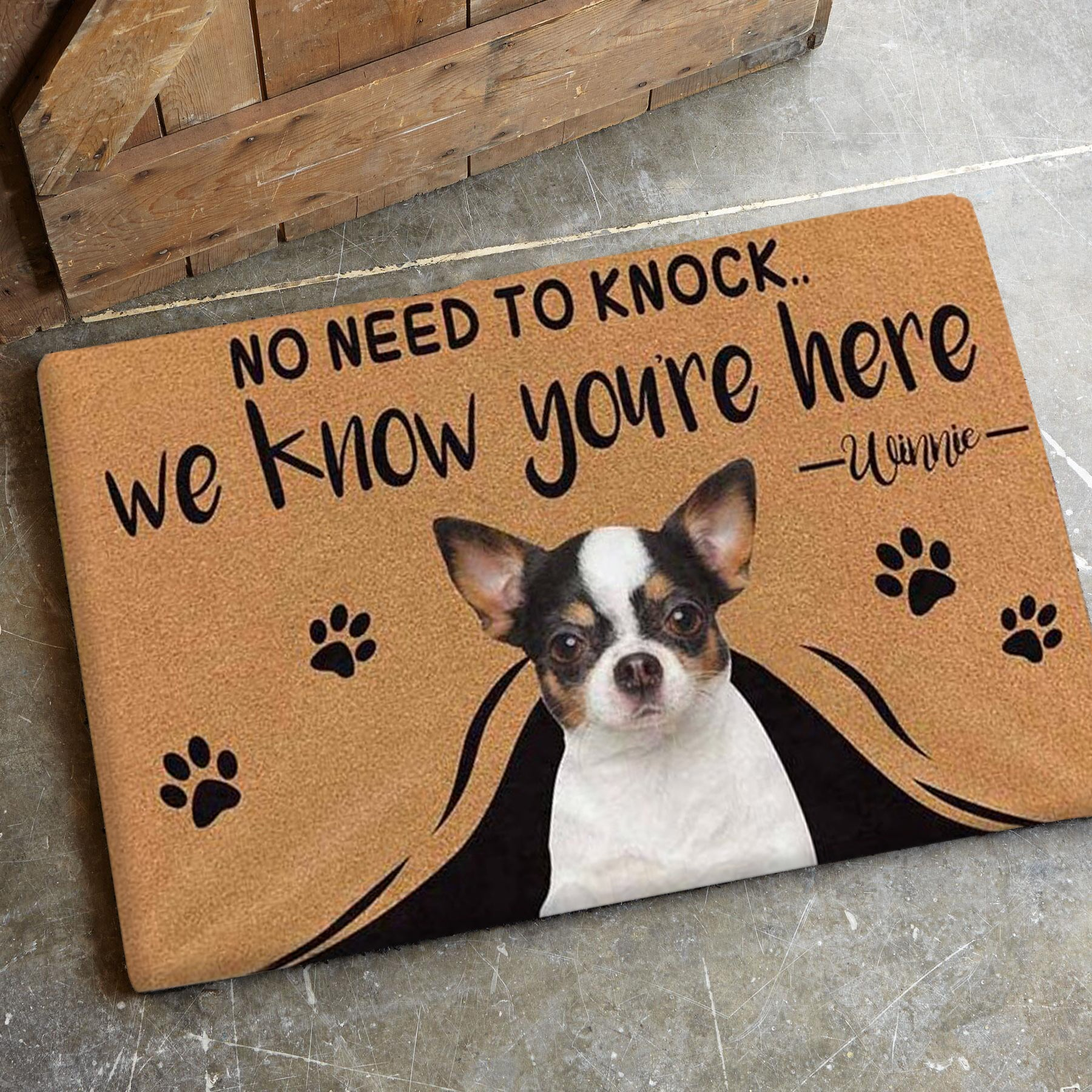 Limited Edition Custom Photo Doormat- Up to 3 dogs