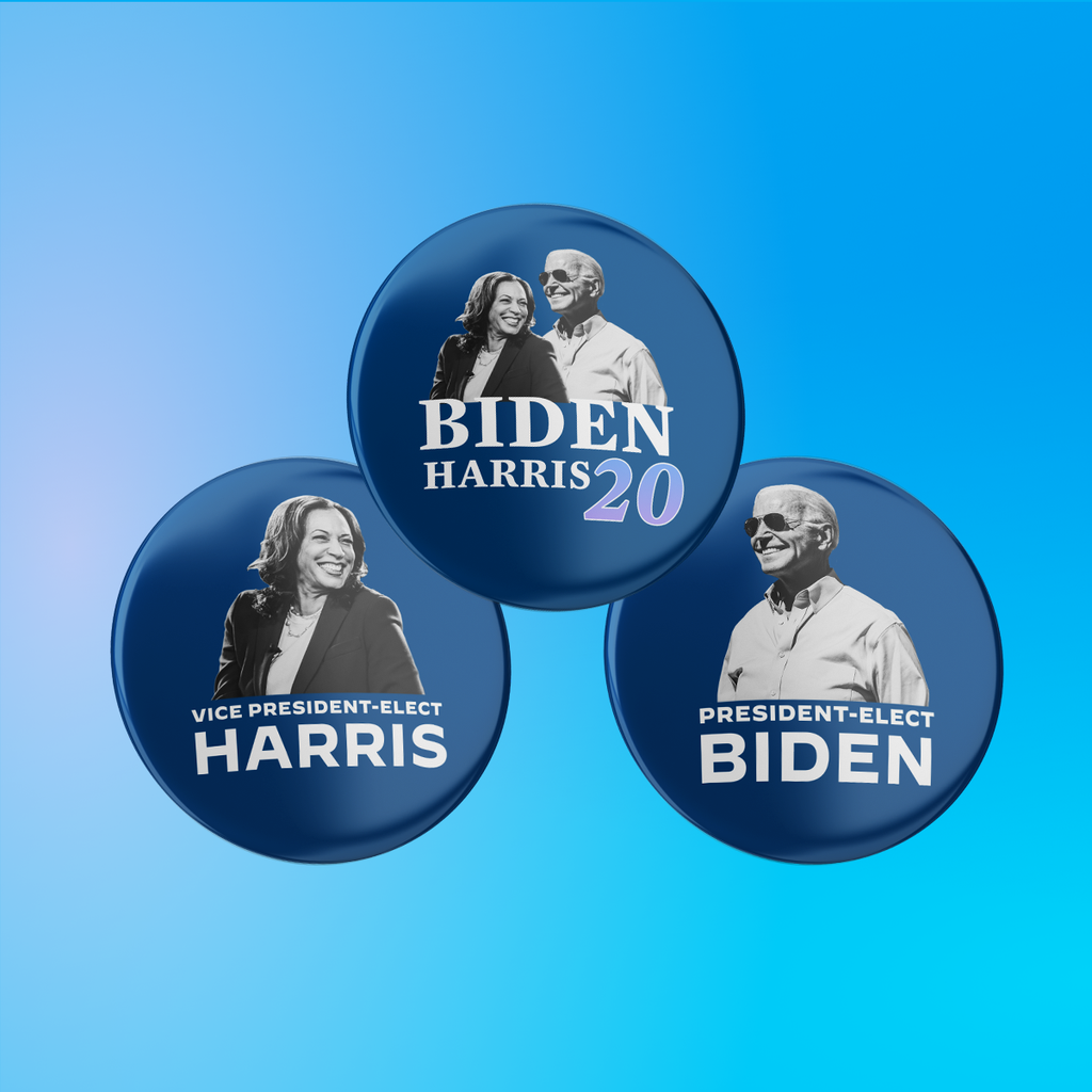 Biden Harris Victory 3-Button Pack