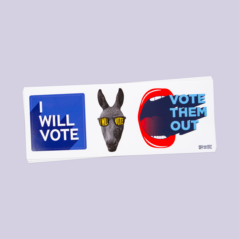 """IWillVote"" Stickers"