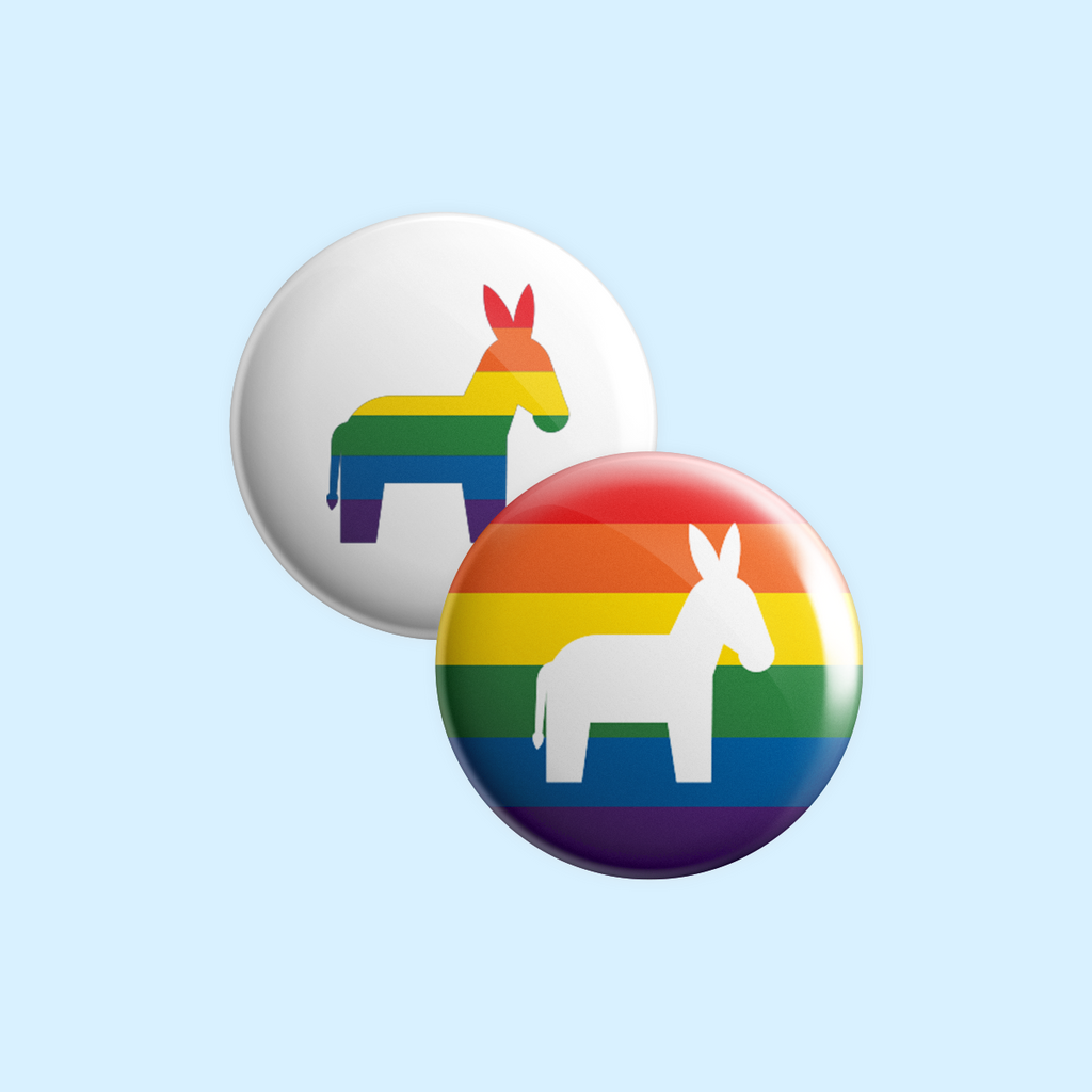 """Donkey Pride"" 2-Button Pack"