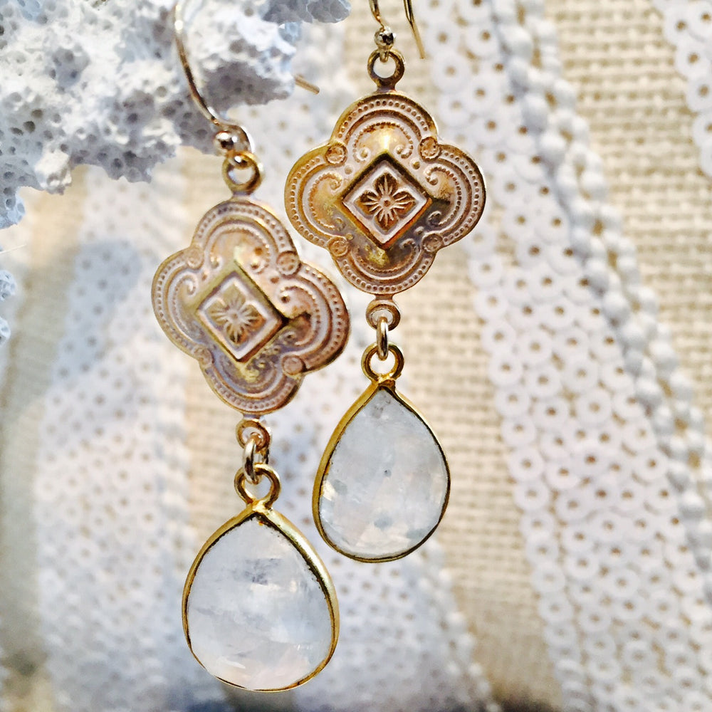 "Moonstone ""The Lovers Stone"" Earrings Perfect For Valentine's Day"