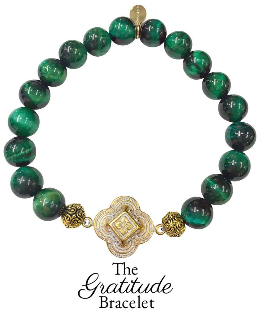 Tuesday Trends: Harmony Balance and Strength ! The Green Tigers Eye Gratitude Bracelet by Teramasu