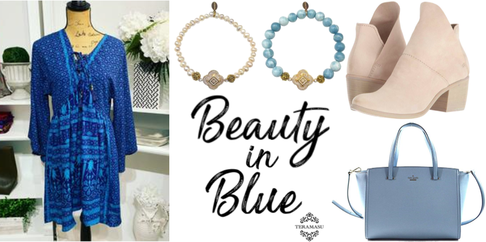 """Want It"" Wednesday: Beauty in Blue Outfit Inspiration for Your One of a Kind Style from Teramasu"