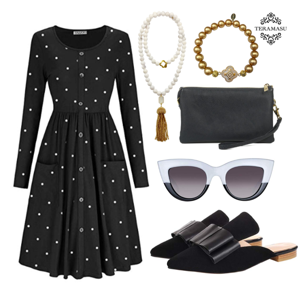 Chic Peek: Classic Black and White Outfit Inspiration for your Timeless Style from Teramasu