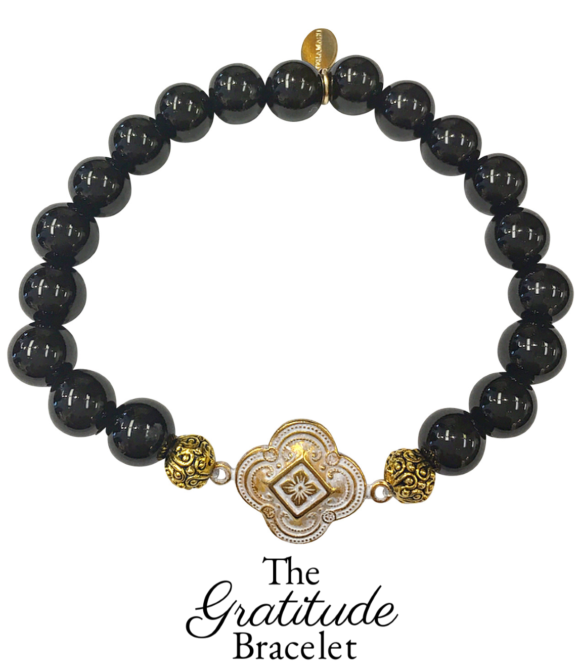 """Want It"" Wednesday: Gorgeous & New, Handmade Designer Teramasu Gratitude Bracelet in Black Onyx from the Teramasu Gratitude Collection"
