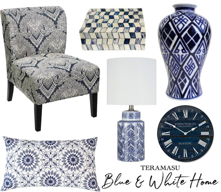 Chic Peek: Gorgeous & Classic Blue and White Home Decor Inspiration from Teramasu