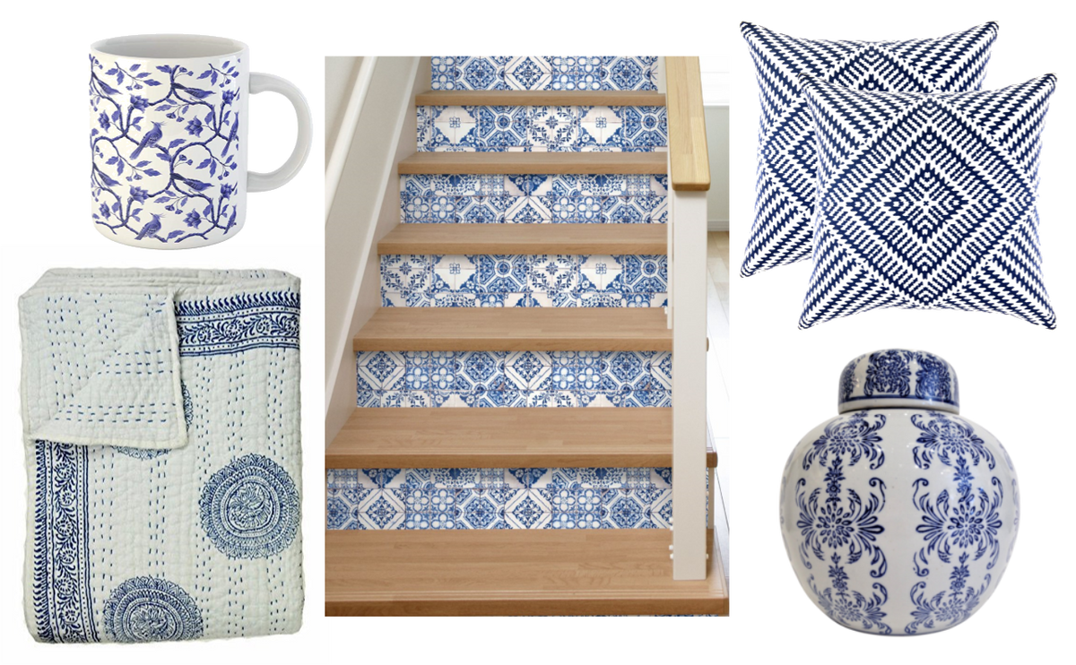 Friday Favorites: Classic Blue and White Home Decor Inspiration from Teramasu