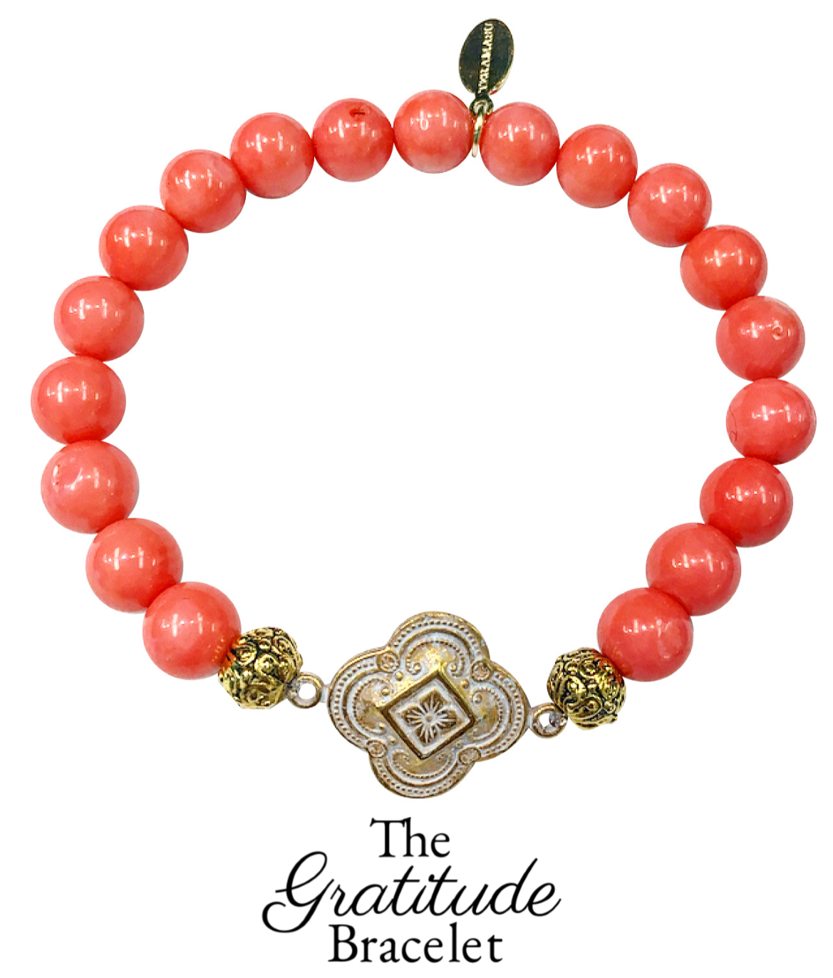 """Want It"" Wednesday: Add a Spark of Meaning and Color to Your New Year Style with Our New Teramasu Gratitude Bracelet in Pink Coral Gemstone"