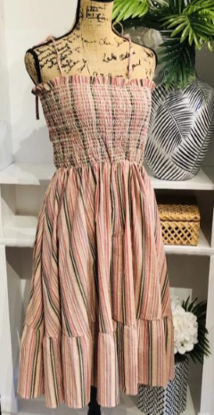 Chic Peek: Gorgeous & New Teramasu Loveliest Smock Striped Spaghetti Strap Dress