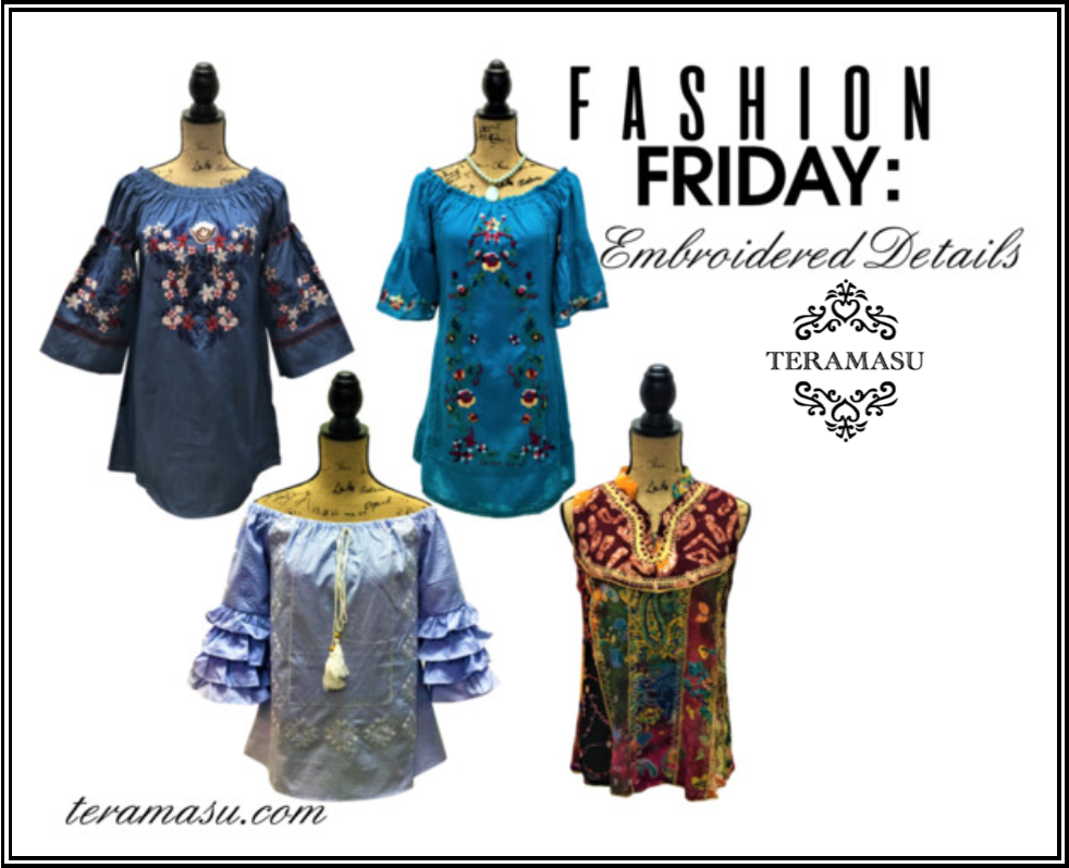 Fashion Friday: Gorgeous Embroidered Details from Teramasu