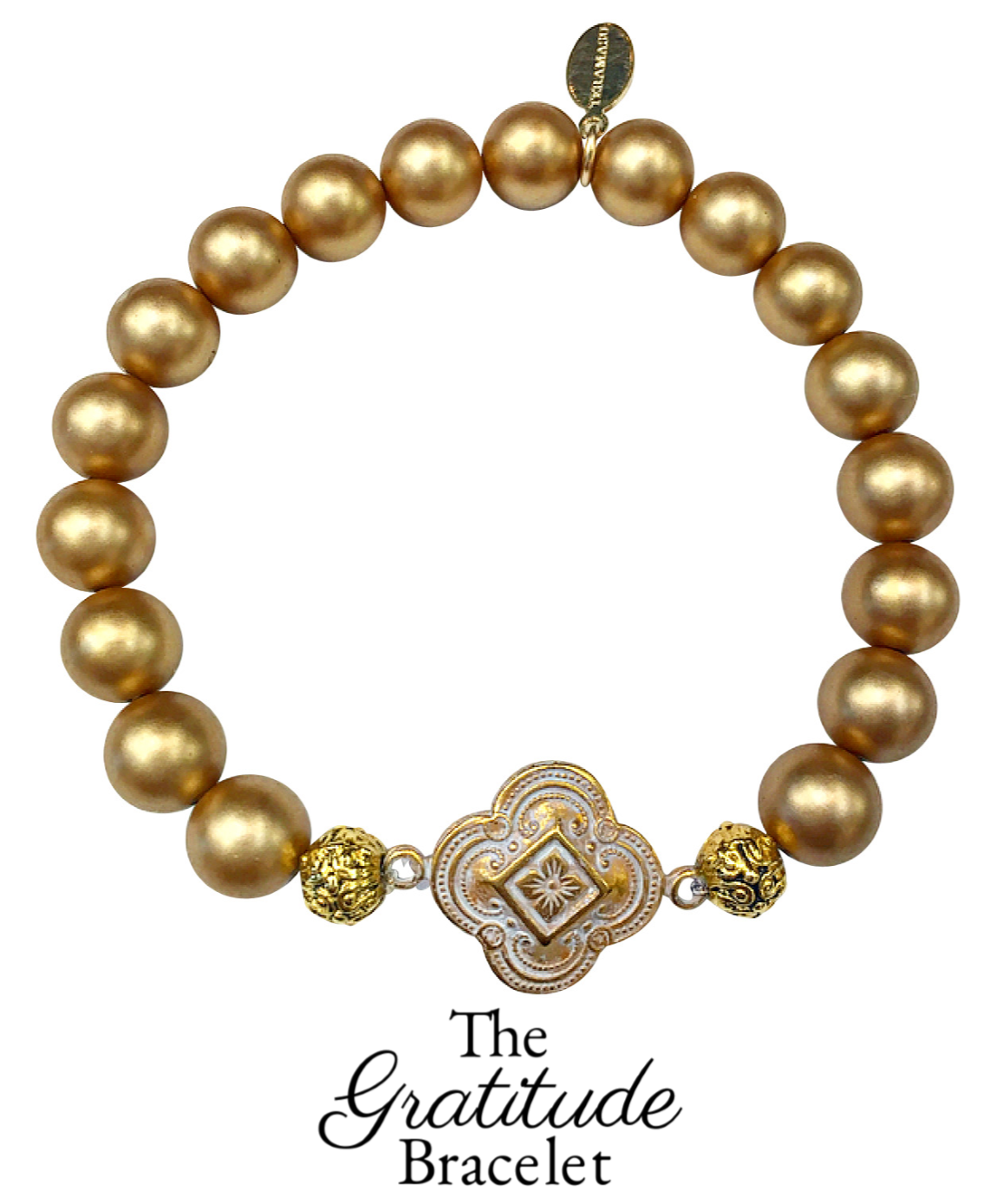 Living Ladylike: Gorgeous & New, Handmade Designer Teramasu Gratitude Bracelet in Gold Hand-painted Shell Pearl from the Teramasu Gratitude Collection